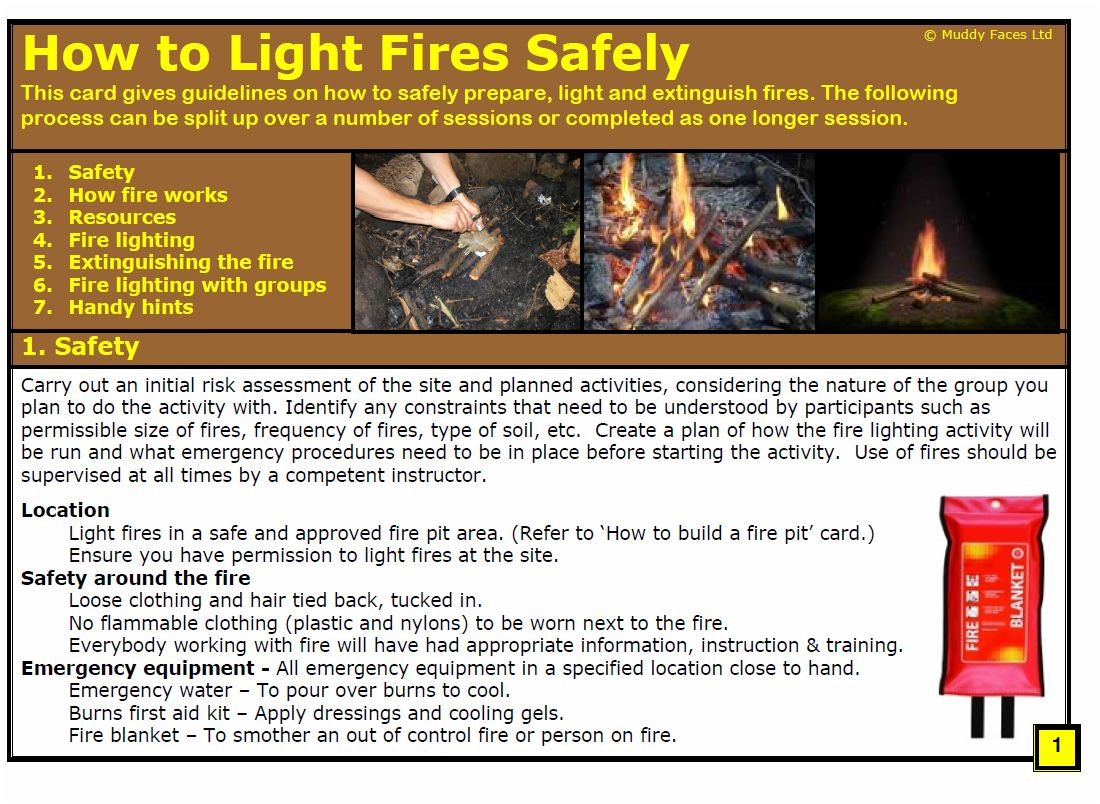 How to light Fires Safely